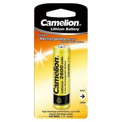 تصویر باتری شارژی چراغ قوه Camelion ICR18650